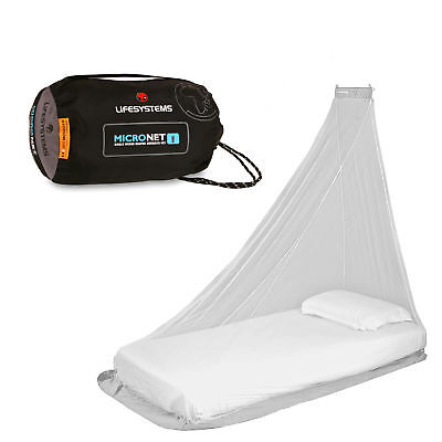 Lifesystems Mosquito Net Micronet Light Quick Hang EX8 Treated Single Double