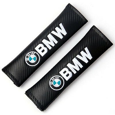 2pcs Carbon Fiber Car Seat Belt Cover Pad Shoulder Cushion for BMW Free shipping