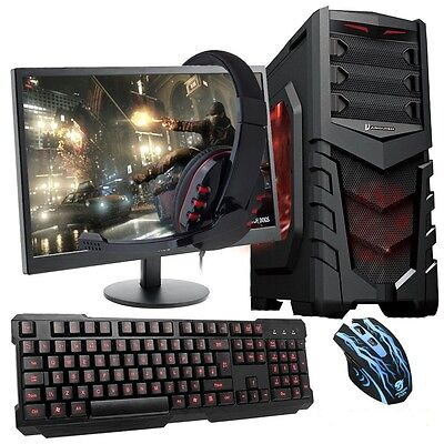 ULTRA FAST QUADCORE Desktop Gaming PC Computer Bundle 4.2GHz 8GB 1TB AMD