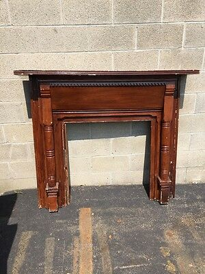 M 37 Antique Pine Fireplace Mantel 1800Scirca