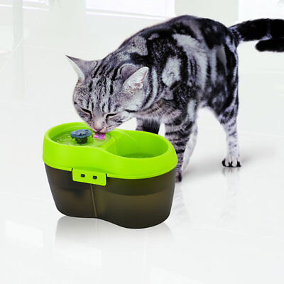 Cat Kitten Dog Drinking Water Fountain Bowl Feeder Multi Level 2l Skimmer Design