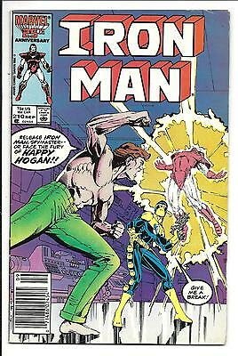 Iron Man # 210 (Rare Mark Jewellers Insert, Sept 1986), Vf-