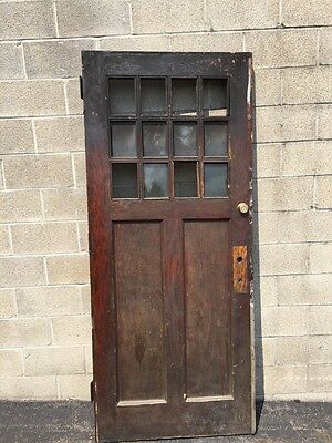 D 140 Antique Oak Entrance Door Arts And Crafts Design