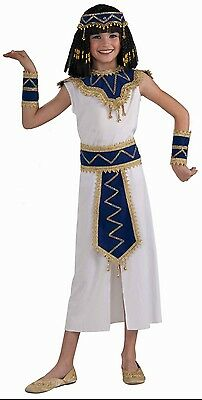 Girls Cleopatra Costume Egyptian Nile Princess Egypt Queen White Dress Kids NEW  sc 1 st  PicClick & GIRLS CLEOPATRA COSTUME Egyptian Nile Princess Egypt Queen White ...
