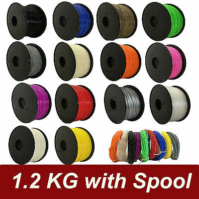 1Kg 3D Printer Filament PLA ABS 1.75mm 3.0mm- Makerbot, Up, Leapfrog