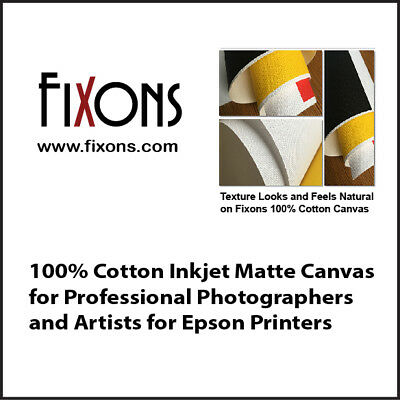 "100% Cotton Inkjet Canvas for Epson - Matte Finish 17""x40' - 1 Roll"
