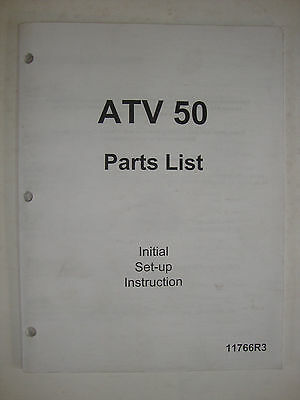 Manco ATV 50 Parts List Initial Set-up Instructions Booklet Manual Book 11766R3