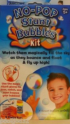 No Pop Stunt Bubbles Juggle Kit play set magic bounce catch toss bubbles in out