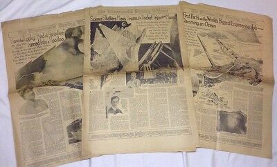 Lot of 3, Vintage/Antique Newspapers, The Minneapolis Tribune 1928x2, 1929x1