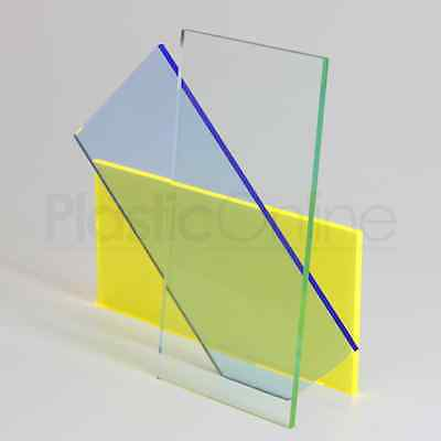 Glass Effect Green Tint Colour Perspex Acrylic Sheet Plastic Material Panel 3mm