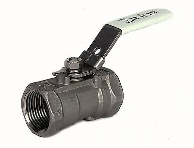 "Stainless Steel 1-Piece Ball Valves. Lockable Female x Female 1/4"" To 2"" BSP."