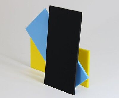Black Colour Perspex Acrylic Sheet Plastic Material Panel Cut to Size 10mm Thick