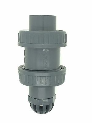 "PVC Ball-Check Foot Valves Solvent Weld and BSP 1/2"" to 2"" Non-Return Valves"