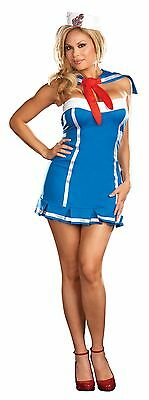 New Plus Size Sexy Sailor Navy Adult Dreamgirl Womens Halloween Costume 1X/2X
