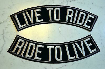 LIVE TO RIDE 2 Rockers XL Top & Bottom PATCH Aufnäher Parche brodé patche toppa