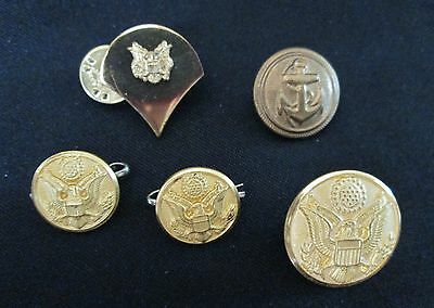 Vintage Lot of 5 U.S. WW2 Military Buttons