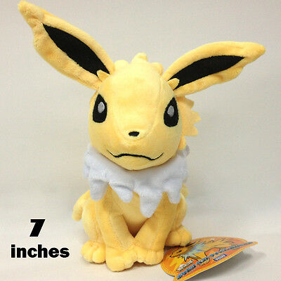 Pokemon Jolteon #135 Plush Soft Toy Character Stuffed Animal Doll Teddy NWT 7""