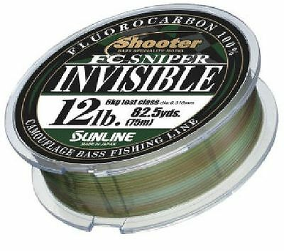 """SUNLINE """"Shooter FC SNIPER INVISIBLE"""" FLUORO CARBON LINE 82.5yds (NIP)!"""