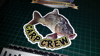 Carp Crew Fishing Sticker, Full Colour Bait, Lure, Angling, Crafty Hunter Coarse