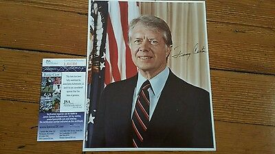 Signed President Jimmy Carter 8 X 10 Jsa# Photo