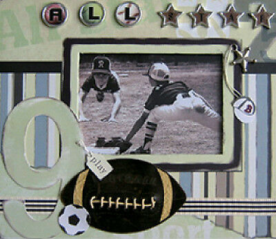 Embellished Cover ALL STARS Scrapbook Photo Picture Album 26 X 22 x 3cm