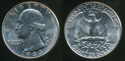 United States, 1983-D Quarter, 1/4 Dollar, Washington - Uncirculated