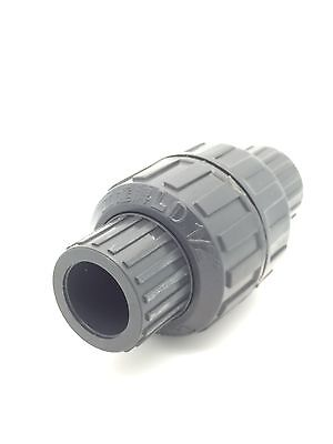 "PVC Spring-Check Valves Solvent Weld & BSP Threaded 1/2"" To 2"" BSP Non-Return"