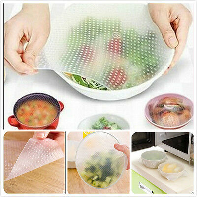 Fresh Food Storage lids Stretch Seal FDA approved material Silicone Wraps Cover