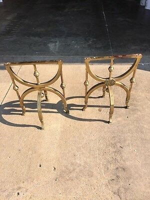 One Pair Antique Brass Coffin Casket Holder