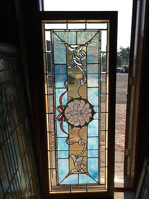 Sga 261 Antique Beveled Jeweled And Stained Glass Combo Window