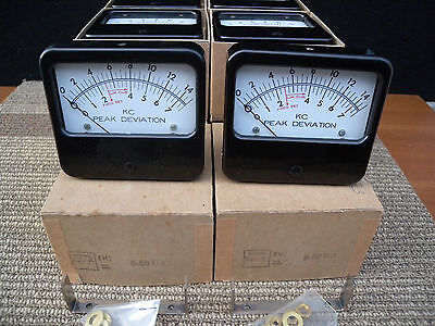 1 high quality black bakelite 0-50 UA dc meter new old stock. u.s.a