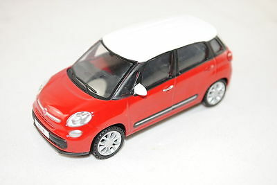 Fiat 500L (Large) Model Car 1/43 New and Genuine Red with White Roof 50907544