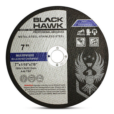 """25 Pack 7""""x1/16""""x7/8"""" Cut-off Wheel - Metal & Stainless Steel Cutting Discs"""