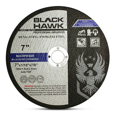"""50 Pack 7""""x1/16""""x7/8"""" Cut-off Wheel - Metal & Stainless Steel Cutting Discs"""