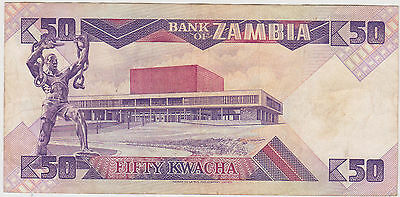 (WN-14) 1992 Zambia 50 Kwacha bank note UNC (C)