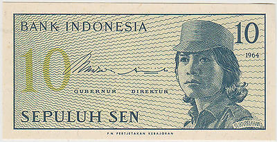 (WN-82) 1664 Indonesia 10 SEN Bank note UNC (D)