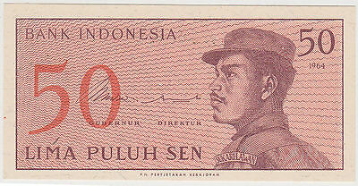 (WN-84) 1964 Indonesia 50 SEN Bank note UNC (F)