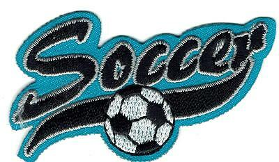 Girl Boy Cub SOCCER GAME Skills match Fun Patches Crests Badges SCOUT GUIDE Blue