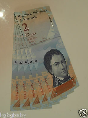 5 x Uncirculated BANKNOTES VENEZUELA REPUBLIC Consecutive Serial Numbers