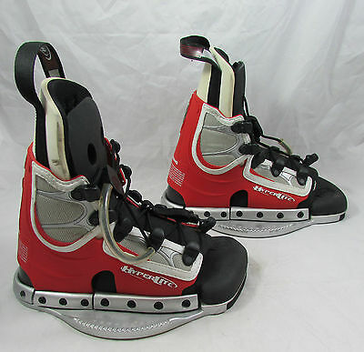 RONIX Size 10 The District Wakeboard Boots Bindings Hyperlite Red & White