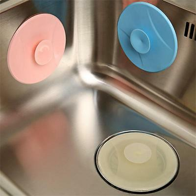 NEW 11cm Rubber Sink Stopper Drain Plug Kitchen Chrome Ring Basin Laundry GG