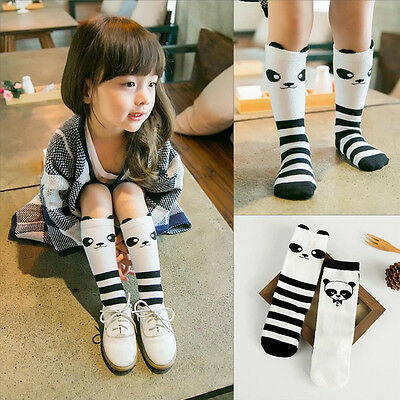 Korean Style Toddlers Panda Pattern Knee High Socks For Age 1-4 Years Kawaii
