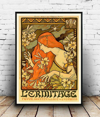 l ermitage , Vintage Advertising Reproduction poster, Wall art.