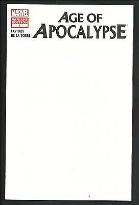 Age Of Apocalypse # 1 (Blank Cover Variant, May 2012), Nm New