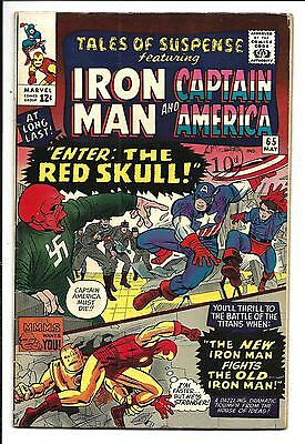 Tales Of Suspense # 65 (Captain America & Iron Man, Red Skull, May 1965), Fn