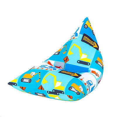Construction Large Children's Kids Pyramid Bean Bag Chair Gaming Beanbag Gamer