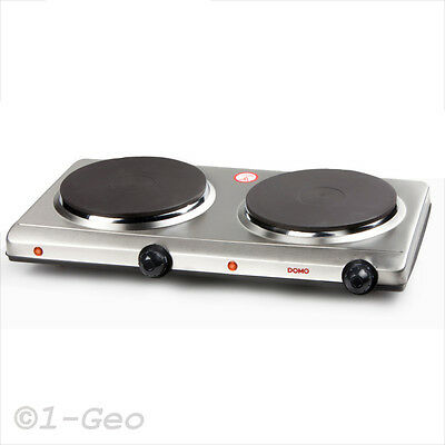 STAINLESS STEEL DOUBLE HOT PLATE 2 ring hob electric mobile Stove NEW