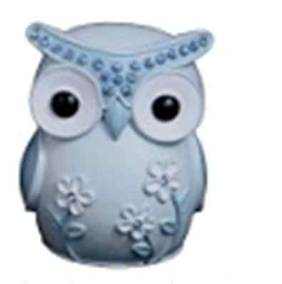Baby Boy Blue Owl Money Box Bank Owl Theme Nursery Decor Baby Gift Bomboniere