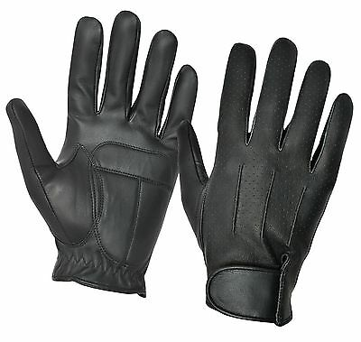 Chauffeur Real Sheep Nappa Leather Padded Palm Driving Gloves Men Dress Classic