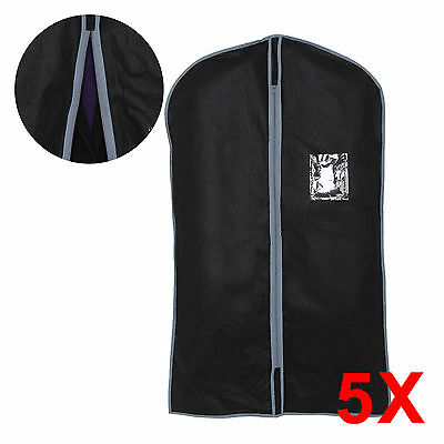 5 x NEW COAT DRESS SUIT SHIRT COVER TRAVEL BAG GARMENT PROTECTIVE COVER BLACK